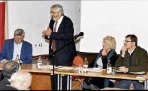 v.l.n.r. Manfred Schwanzer Gerhard Kleinböck, Rita Haller - Haid u. Klaus Eisenhardt
